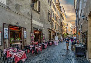 Rzym-wakacje-jedzenie-kawiarnia