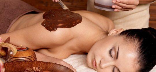 masaż czekoladą