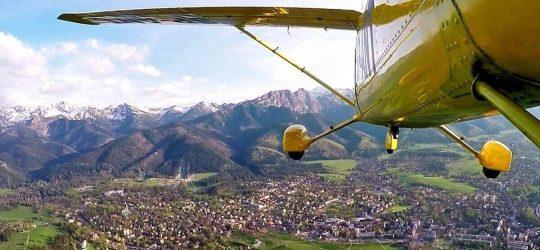 lot widokowy nad Tatrami